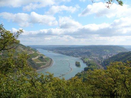 Blick über Bingen (Rhein)
