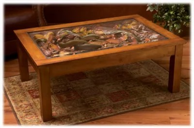 big sky carvers william herrick trout stream furniture collection trout stream coffee table bass pro shops