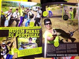Artigo revista Pancing, Malásia - Março de 2014