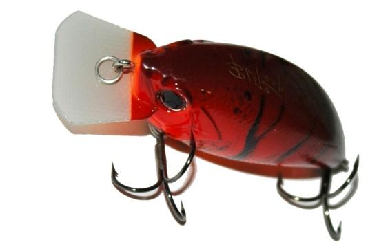 Os cranks shallow runner possuem uma pala angular curta, neste caso com cantos cortados