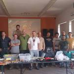 Foto do grupo que expôs, durante o dia de hoje, material de pesca ao achigã usado no I encontro de Usados de Achigã