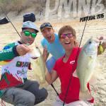 Alegria e boa disposição durante a sessão de pesca matinal com a equipa do basspt.com