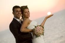 Sposi baciati dal sole