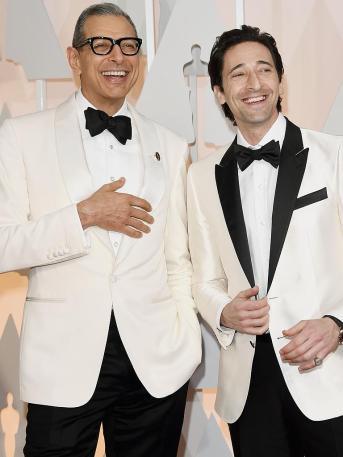 Jeff Goldblum e Adrien Brody. Il bianco ha davvero spopolato in quest'ultimo red carpet.