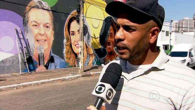 """Grafiteiro em entrevista ao """"SPTV"""". (Foto: Reprodução/TV Globo)"""