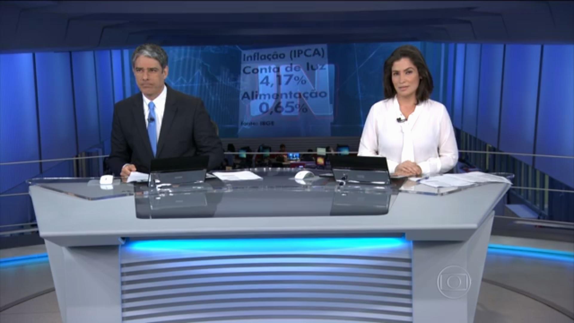 """Em edição as pressas, William Bonner e Renata Vasconcellos cometem gafes no """"JN"""""""