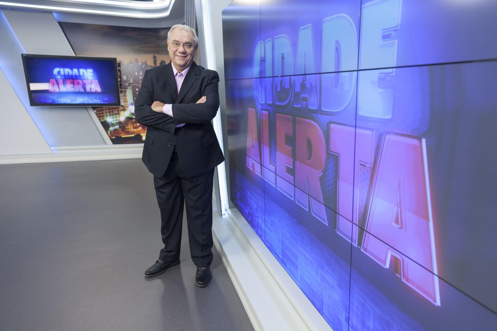 """Marcelo Rezende ficou irritado com exibição de campanha do jornalismo da Record no """"Cidade Alerta"""". Foto: Edu Moraes/Record"""