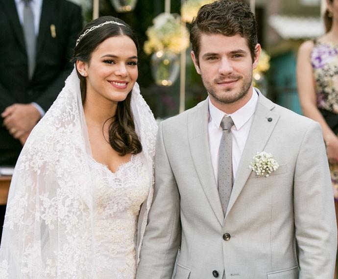 Será que Mari e Ben vão ficar juntos até o fim? (Foto: Isabella Pinheiro/Gshow)