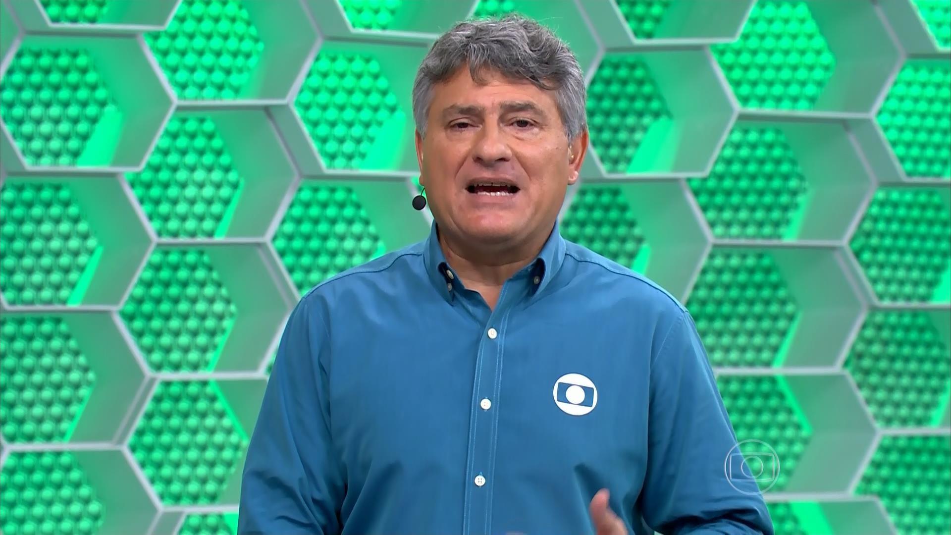 Torcedores do Palmeiras tentaram agredir equipe da Globo. Foto: Reprodução/Globo