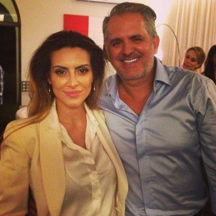Cleo Pires e o padrasto Orlando Morais. Foto: Reprodução