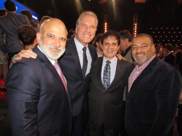 Marcus Vinicius, Roberto Justus, Zacarias Pagnanelli e Fabiano Freitas. Foto: Divulgação/Record