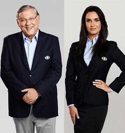 Larissa Erthal e Milton Neves (Foto: Divulgação)
