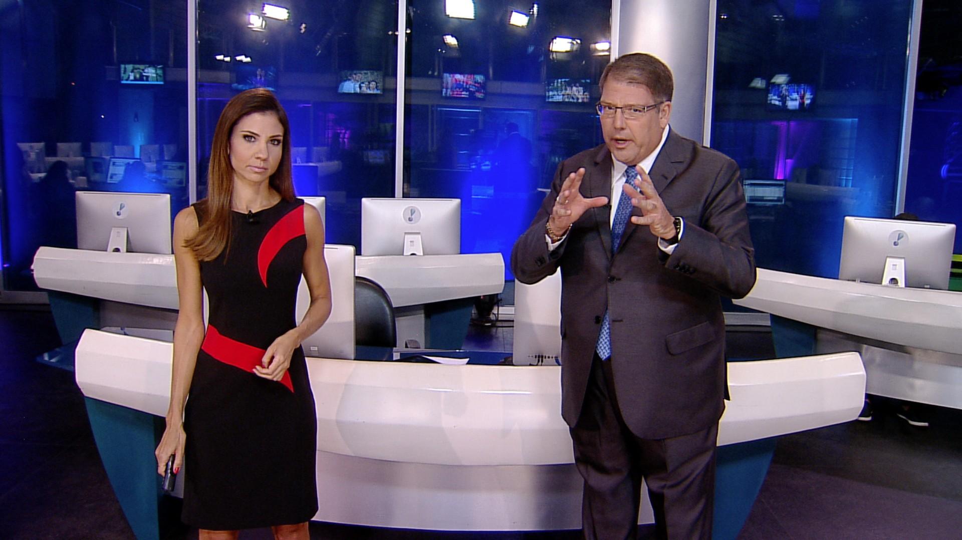 Os apresentadores do RedeTV News Amanda Klein e Luciano Faccioli. Foto: Divulgação/RedeTV!