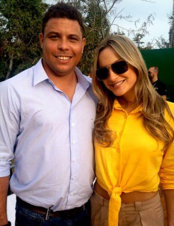 Ronaldo vai ajudar a cantora Claudia Leitte a vender seus shows. Foto: Reprodução