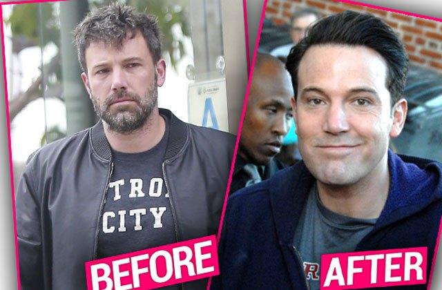 O antes e depois do ator Ben Affleck. Tava melhor antes, né? Foto: Reprodução