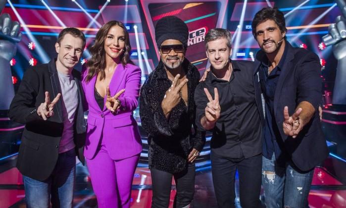 Thiago-Laifer-Ivete-Sangalo-Victor-e-Leo-e-Carlinhos-Brown-time-do-The-Voice-Kids