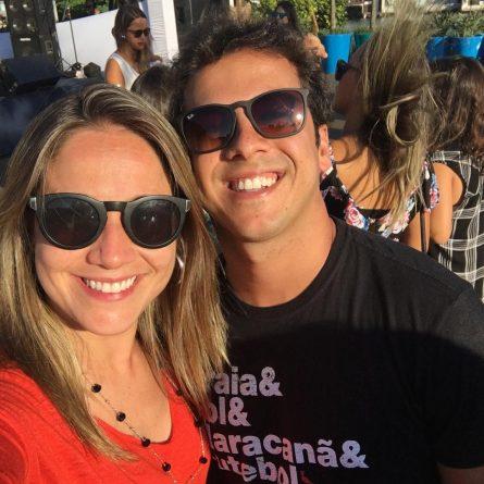 Fernanda Gentil e o marido. Foto: Reprodução/Instagram