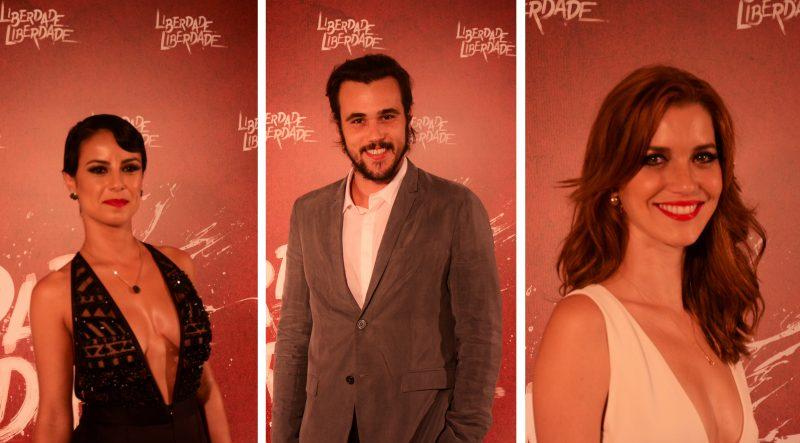 """(Andreia Horta, Bruno Ferrari e Nathalia Dill formam o triângulo amoroso de """"Liberdade, Liberdade""""/Paulo Carvalho/Bastidores Da TV)"""