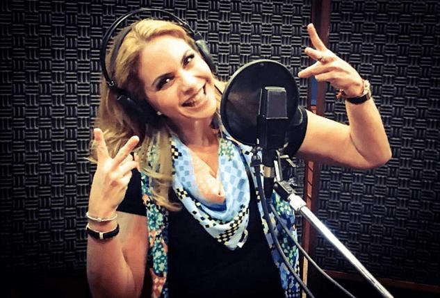 """(Foto: Lucero gravando músicas para """"Carinha de Anjo""""/Divulgação)"""