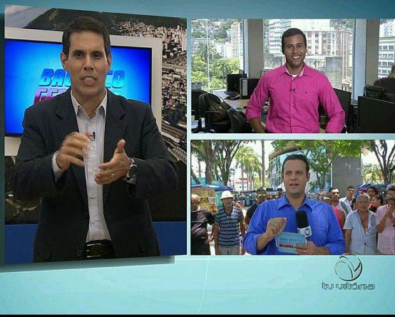 Enquanto Amaro Neto era o apresentador, Douglas conduzia o quadro Praça do Povo (Foto: Reprodução/Facebook)