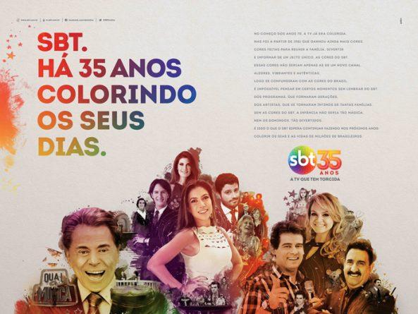 Campanha impressa do SBT em comemoração aos 35 anos. Foto: Divulgação/SBT