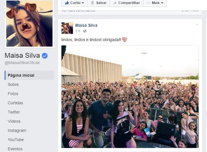 (Foto: Facebook/Maísa)