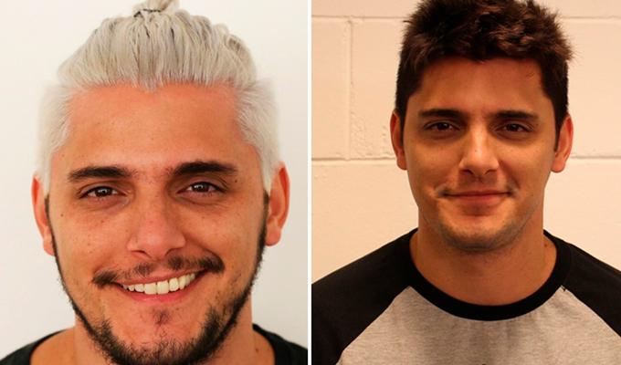 Veja o antes e depois do visual do ator. Foto: Wallace Carvalho/Gshow