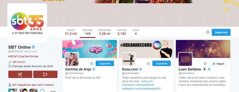SBT começa a seguir Xuxa Meneghel no Twitter (Foto: Reprodução)