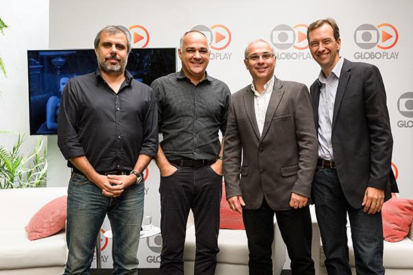 Erick Brêtas, diretor de Mídias Digitais; Amauri Soares, diretor de Programação; Raymundo Barros, diretor de Tecnologia; e Eduardo Becker, diretor de Comercialização de Mídias Digitais. Foto: Globo/Ramón Vasconcelos
