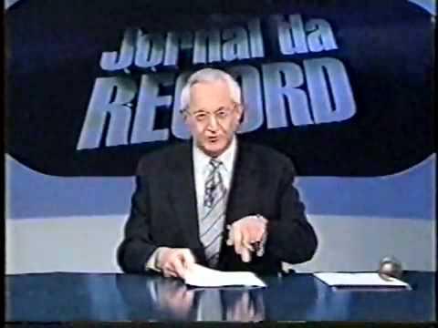 Jornal da Record pega fogo ao vivo, em 1998.