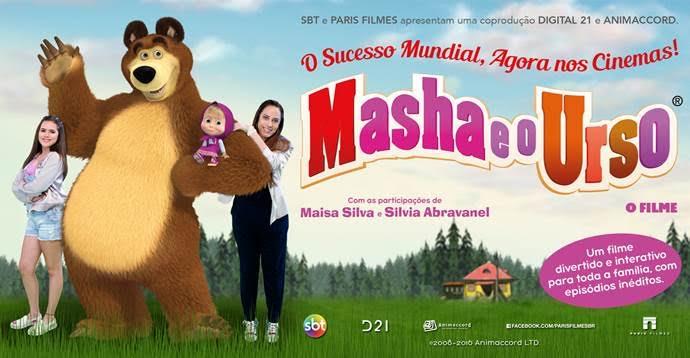 """SBT e Paris Filmes lançam """"Masha e o Urso"""" nos cinemas nesta quinta-feira (8)"""