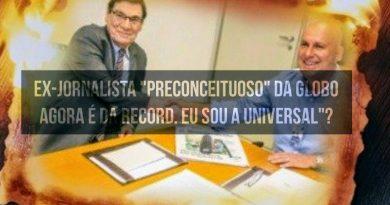 Novo garoto da Universal? Record TV contrata polêmico jornalista da concorrência que apedrejou em rede nacional