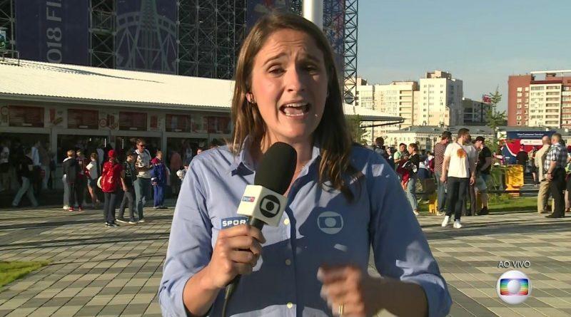 Repórter da Globo é assediada na Rússia durante a Copa do Mundo