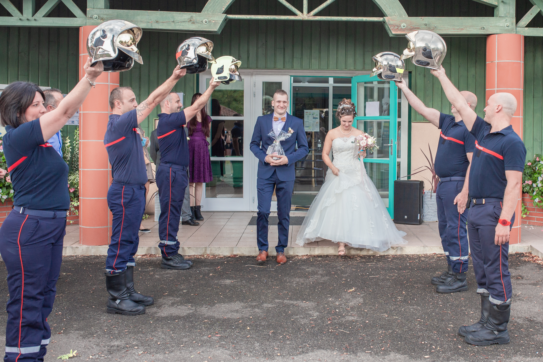 haie d'honneur mariage landes