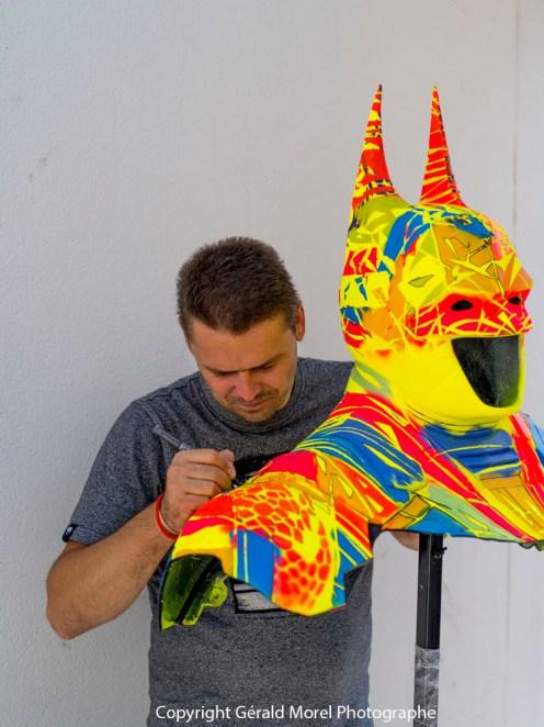 2015 Custom on resin sculpture