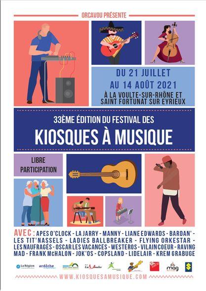 Le Festival des Kiosques à Musique revient en 2021 !