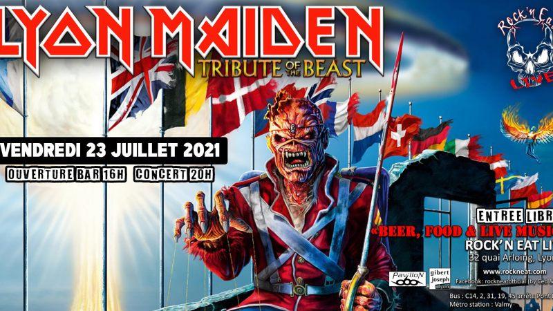 Lyon Maiden sur scène au Rock'n eat