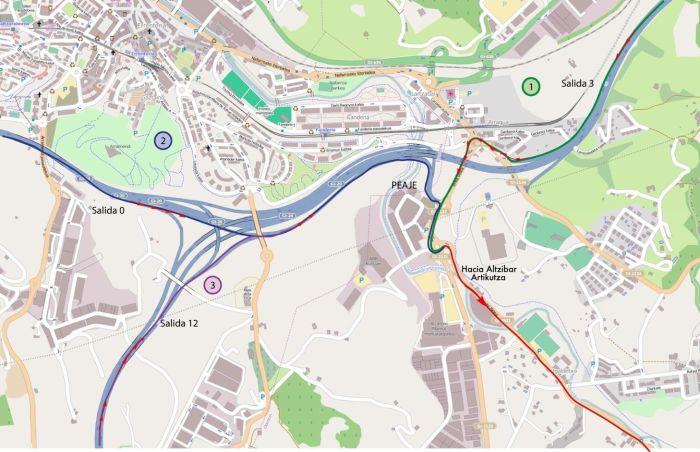 Mapa para llegar en coche.