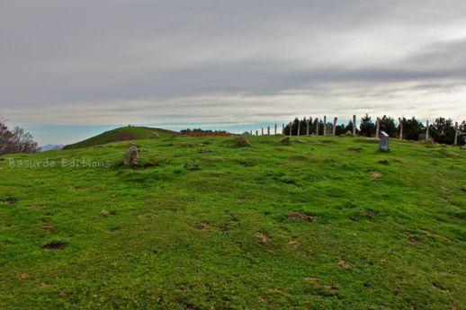 Cromlech de Aritxulagaina y cima del Bianditz.