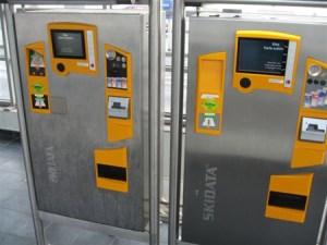 Parkscheinautomat: Vor- und nach der Behandlung
