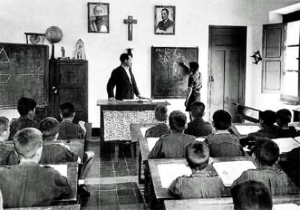 Educación en el franquismo niños