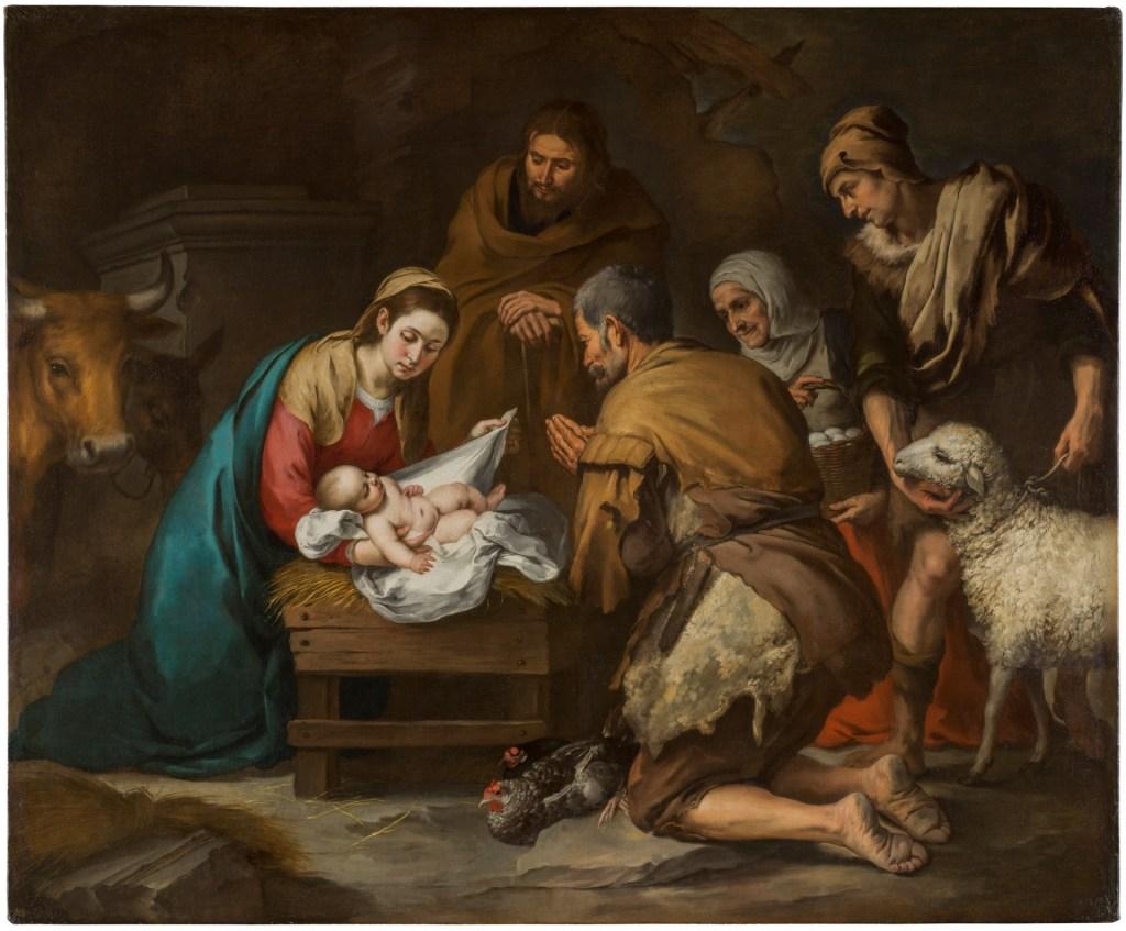 MURILLO-Adoración de los pastores