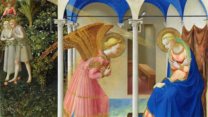La Anuciación de Fray Angélico (1400-1455)