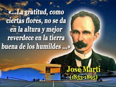 Agradecimiento José Martí