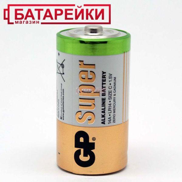 GP SUPER ALKALINE 1.5V 14A-S2, LR14,C Цена 26 грн ...