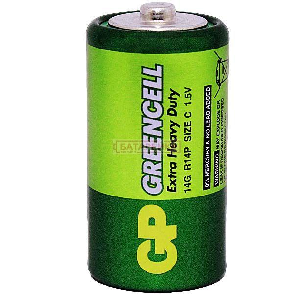 GP GREENCELL 1.5V сольова, 14G-S2, R14, C Цена 10 грн ...