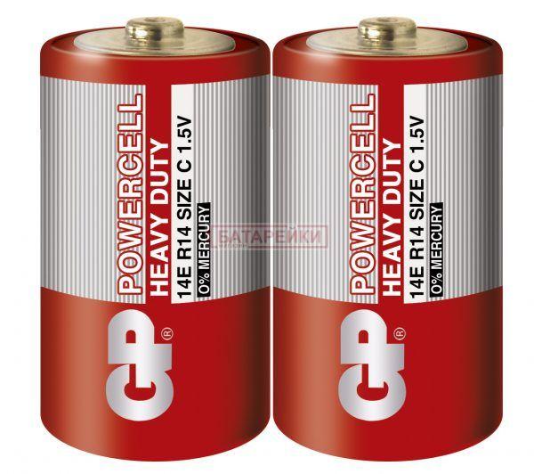 Батарейка GP POWERCELL 1.5V сольова, 14ER-S2, R14,C Цена 9 ...