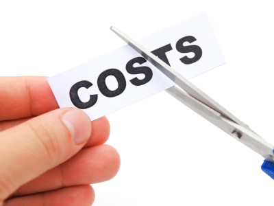 cutting down a tag of costs on white