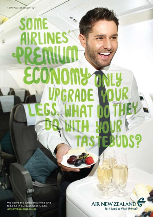 Premium Economy food print