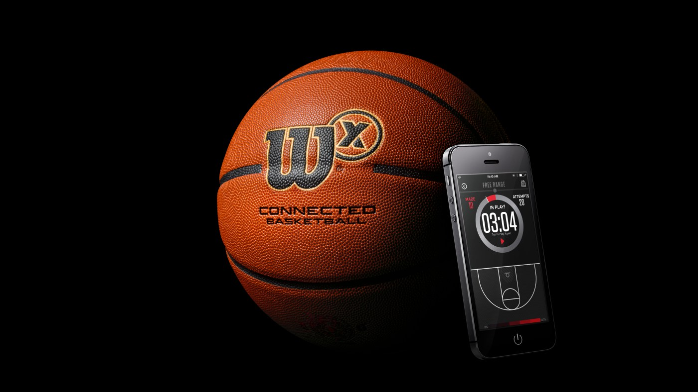 Wilson X Connected Basketball product shot